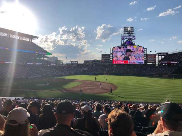 Coors field, section: 120, row: 33, seat: 7