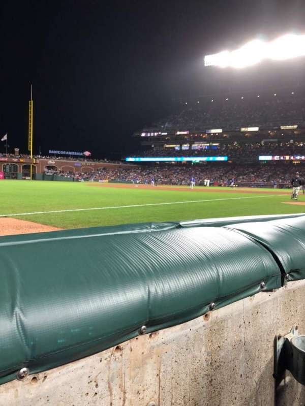 Oracle Park, section: 129, row: 1, seat: 7