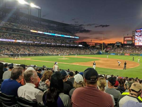 Coors Field, section: 120, row: 18, seat: 6
