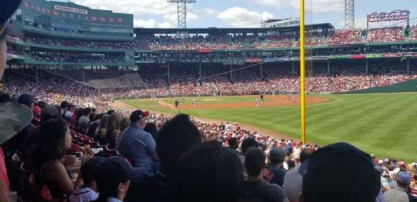 Fenway Park, section: Right Field Box 92, row: VV, seat: 12