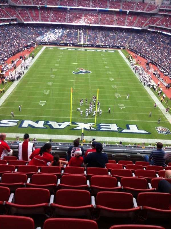 NRG Stadium, section: 521, row: H