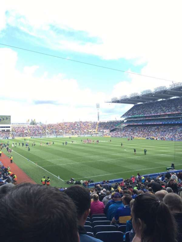 Croke Park, section: Davin lower 323, row: Hh, seat: 10