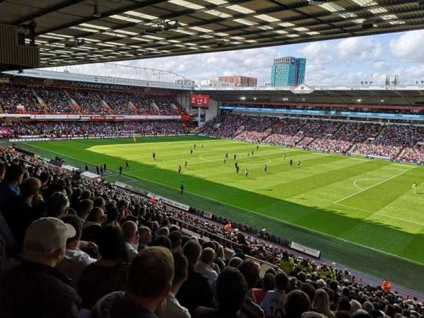 Bramall Lane, section: South Stand, row: JJ, seat: 4