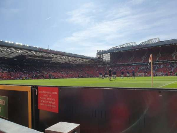 Old Trafford, section: E38, row: AA, seat: 17