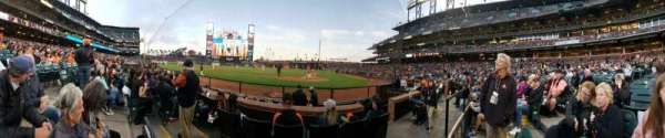 Oracle Park, section: 119, row: A, seat: 4