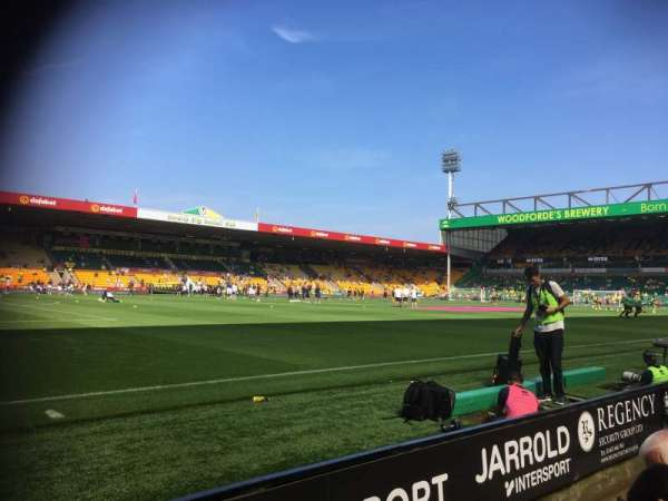Carrow Road, section: South stand N, row: B, seat: 0212
