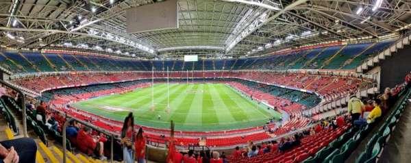 Principality Stadium, section: UN1, row: 21, seat: 1