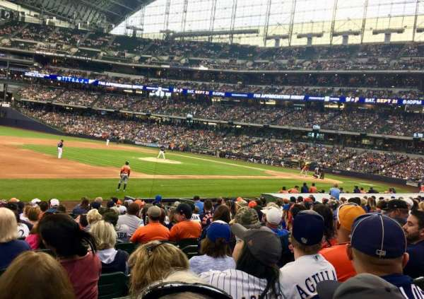 Miller Park, section: 124, row: 16, seat: 14