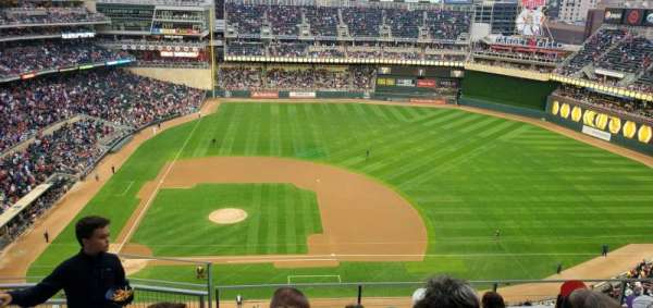 Target Field, section: 309, row: 6, seat: 17