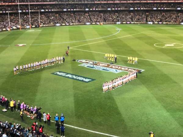 Melbourne Cricket Ground, section: P43, row: A, seat: 18