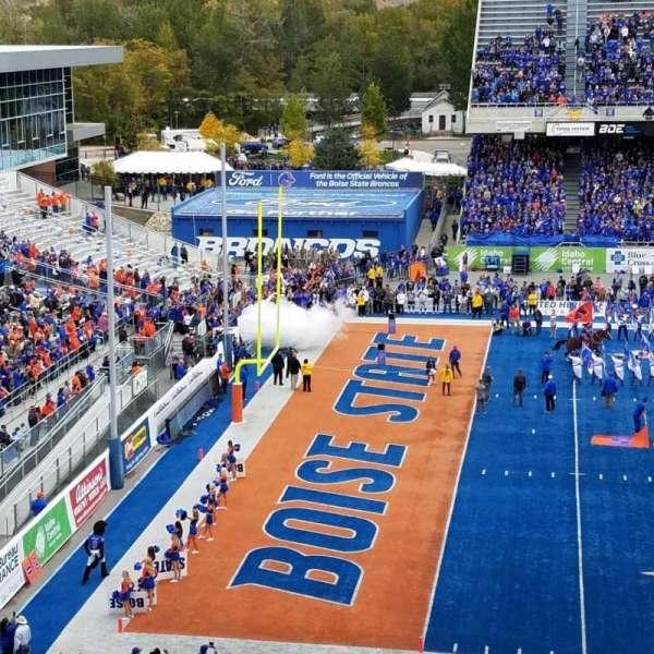 Albertsons Stadium, section: 111, row: N, seat: 1