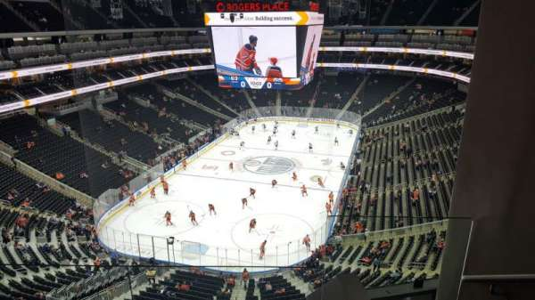 Rogers Place, section: SN-AA, row: 3, seat: 1