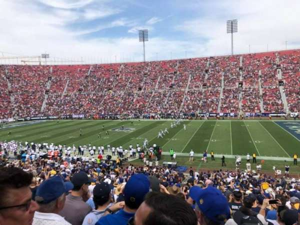Los Angeles Memorial Coliseum, section: 105A, row: 36, seat: 10