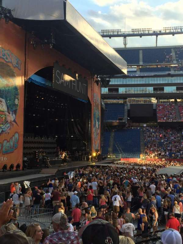 Gillette Stadium, section: 112, row: 10, seat: 10