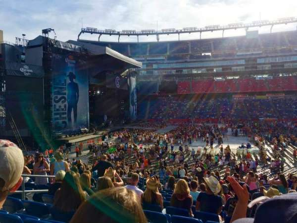 Gillette Stadium, section: 111, row: 27, seat: 14