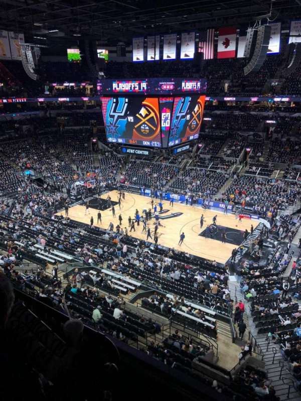 AT&T Center, section: 222, row: 12, seat: 6