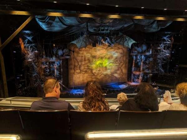 Gershwin Theatre, section: Rear Mezzanine L, row: F, seat: 9