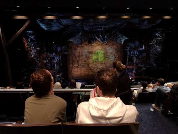 Gershwin Theatre, section: Rear Mezzanine L, row: G, seat: 3