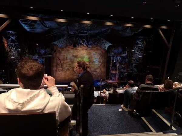Gershwin Theatre, section: Rear Mezzanine L, row: G, seat: 1