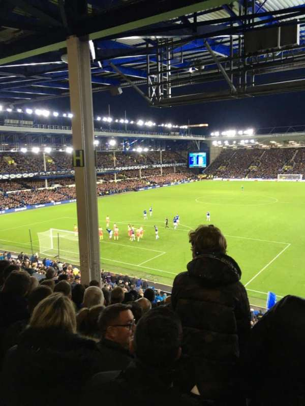 Goodison Park, section: GS1, row: H, seat: 38