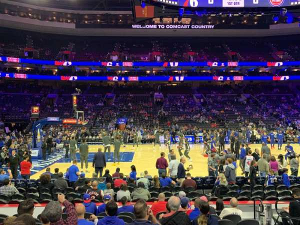 Wells Fargo Center, section: 112, row: 9, seat: 15