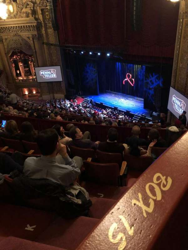 Chicago Theatre, section: Balcony box 15