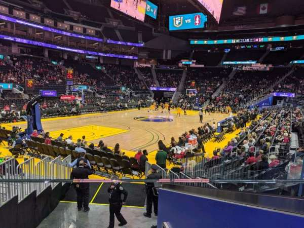 Chase Center, section: 107, row: 7, seat: 3