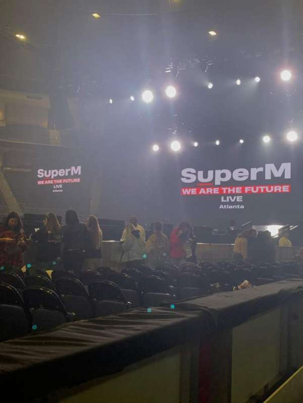 Infinite Energy Arena, section: 105, row: A, seat: 12