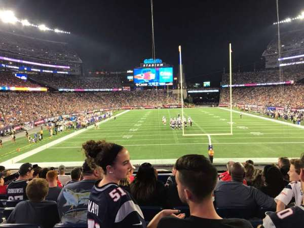 Gillette Stadium, section: 121, row: 26, seat: 9