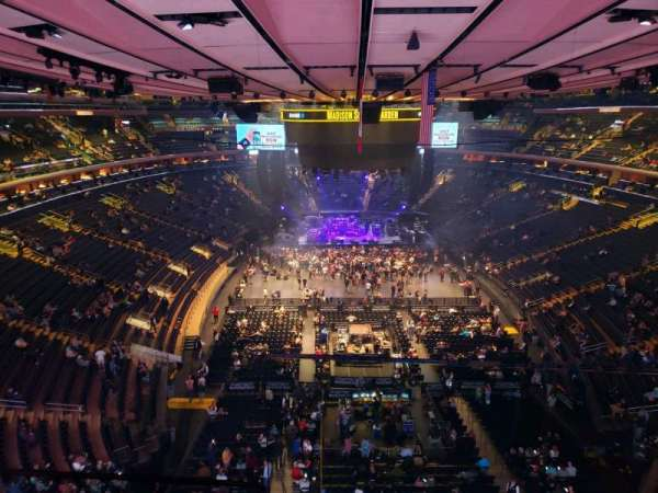 Madison Square Garden, section: 301, row: 1, seat: 3