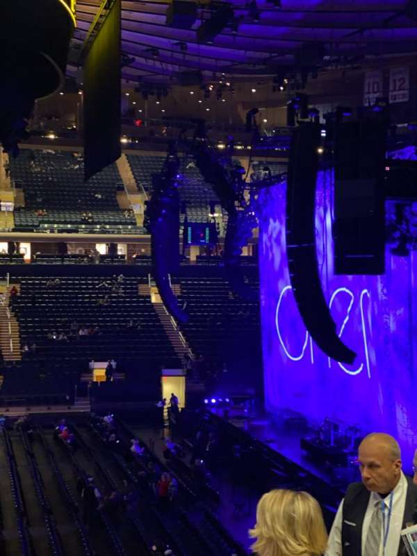 Madison Square Garden, section: 107, row: 22, seat: 20