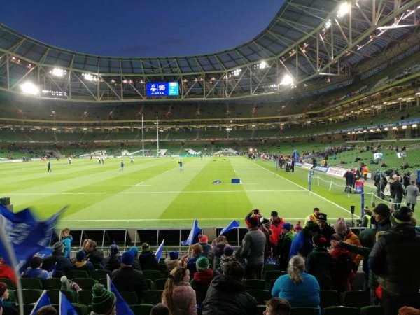 Aviva Stadium, section: 133, row: P, seat: 19