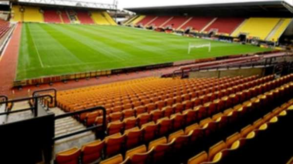 Vicarage Road, section: Away, row: 16, seat: 47