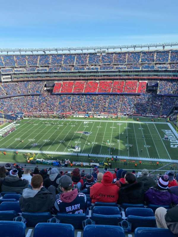 Gillette Stadium, section: 330, row: 16, seat: 8