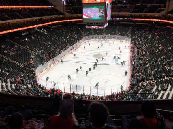 Xcel Energy Center, section: C35, row: Drink Rail, seat: 4