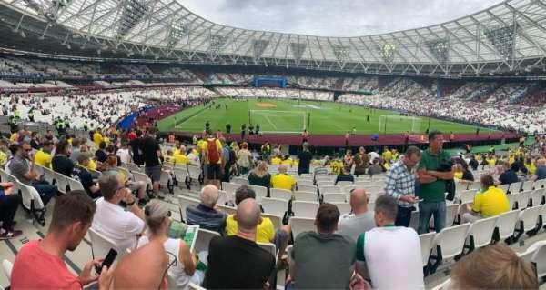 London Stadium, section: 118, row: 19, seat: 91