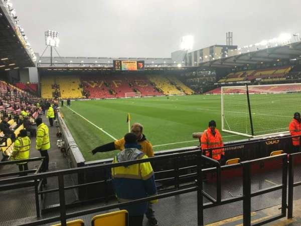 Vicarage Road, section: VRS1, row: GG, seat: 11