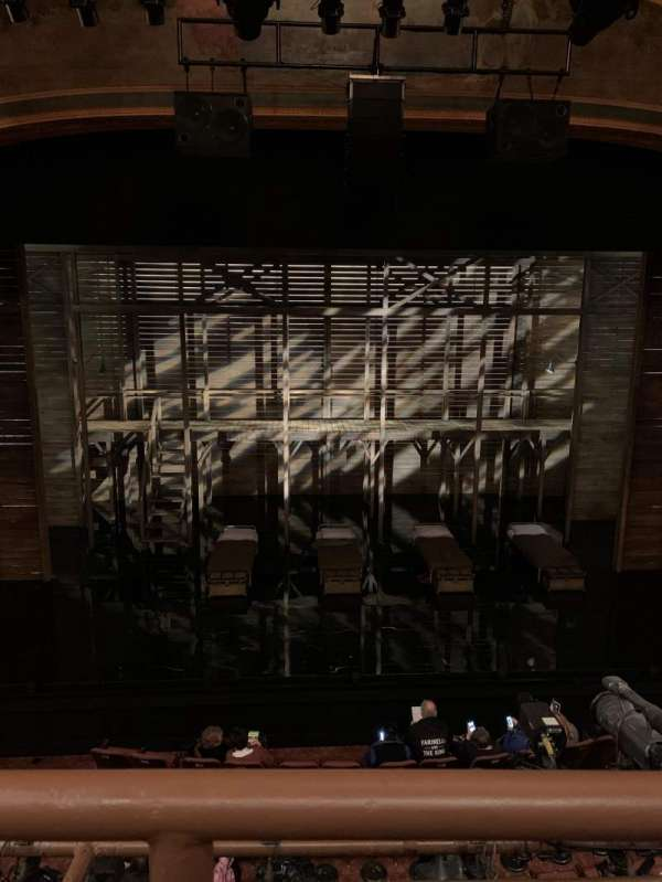 American Airlines Theatre, section: Front mezzanine, row: A, seat: 123