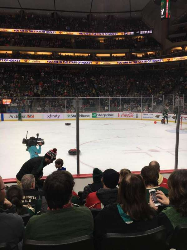 Xcel Energy Center, section: 102, row: 6, seat: 11