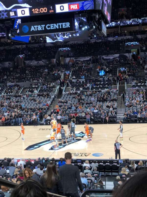 AT&T Center, section: 107, row: 25, seat: 1