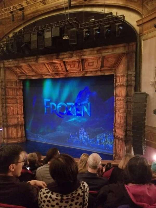 St. James Theatre, section: Mezzanine R, row: F, seat: 18