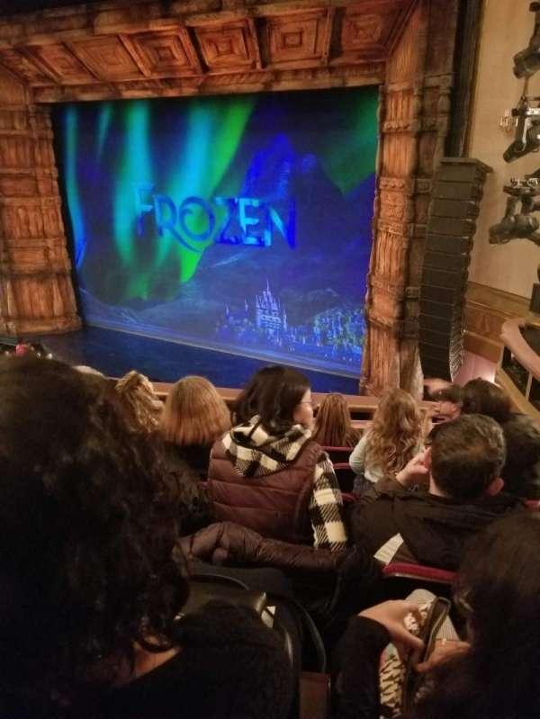 St. James Theatre, section: Mezzanine R, row: F, seat: 22