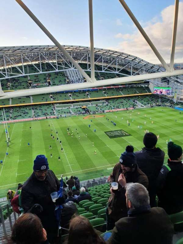 Aviva Stadium, section: 507, row: AA , seat: 14
