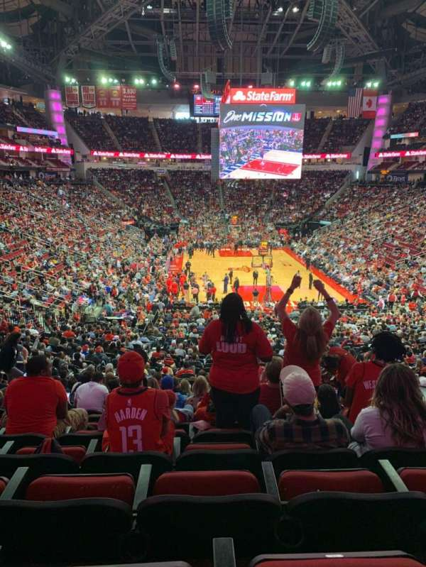 Toyota Center, section: 114, row: 27, seat: 8