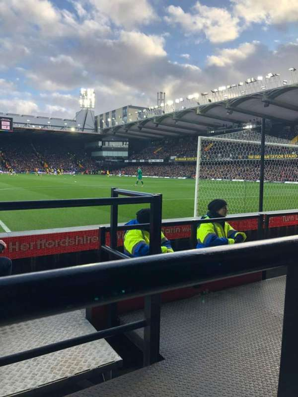 Vicarage Road, section: Visitors, row: DD, seat: 67