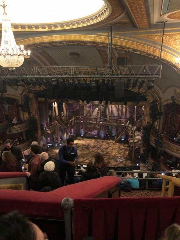 Richard Rodgers Theatre, section: Rear Mezzanine R, row: L, seat: 10