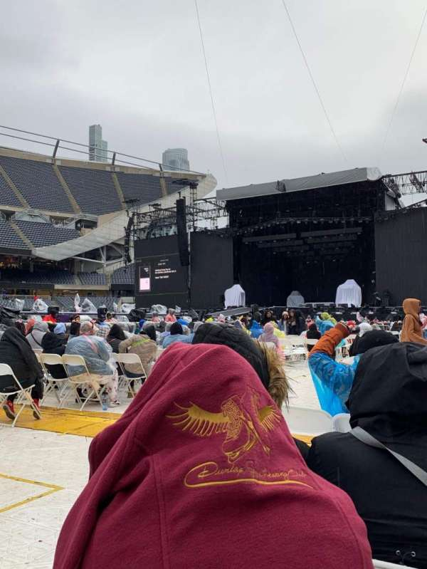 Soldier Field, section: B1, row: 27, seat: 3-4