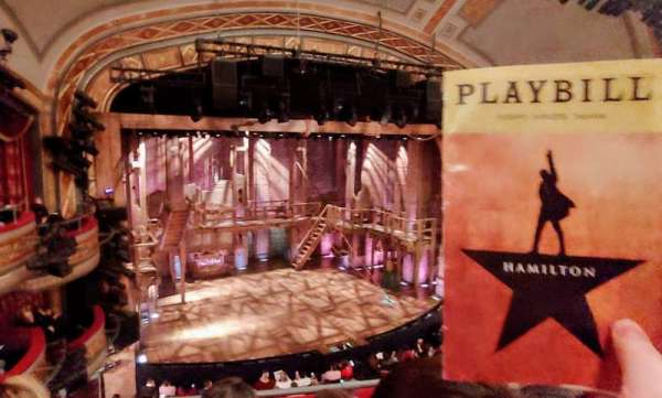 Richard Rodgers Theatre, section: Front Mezzanine C, row: C, seat: 113