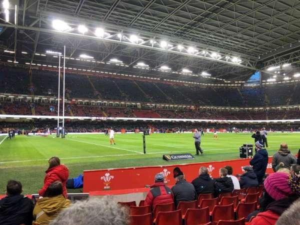 Principality Stadium, section: L34, row: 8, seat: 1
