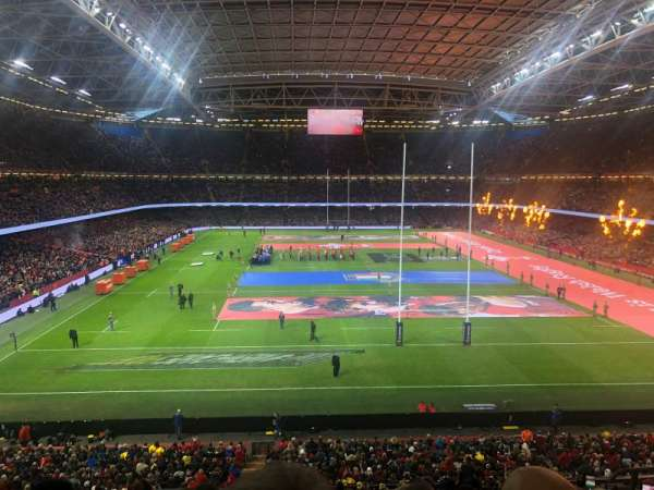 Principality Stadium, section: UN3, row: 18, seat: 24